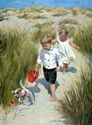 Sand Dune Haven by Sherree Valentine Daines - Embellished Canvas on Board sized 14x19 inches. Available from Whitewall Galleries